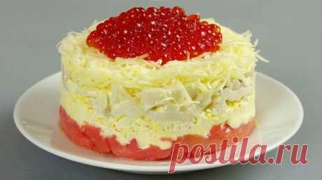 """Новогодний салат """"Сытый боцман"""" - стопроцентный фаворит на столе Приятного аппетита!"""