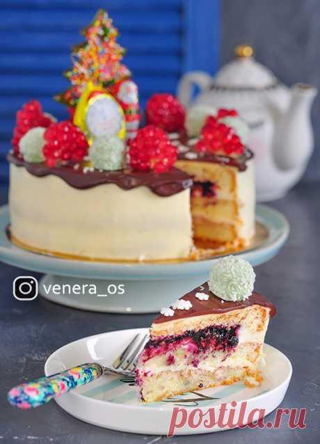 """Бисквит, который получается всегда + торт """"Черничный блюз""""!))) - Вкусная пауза"""