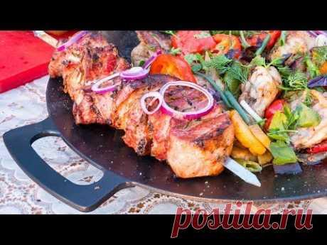 Шашлык из свинины и Курица на Садже. Ужин для всей семьи.