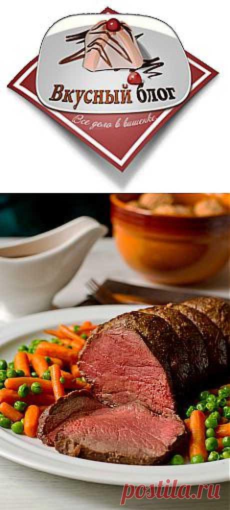 Ростбиф в имбирно-луковом маринаде - Пошаговый рецепт с фото | Вторые блюда | Вкусный блог - рецепты под настроение