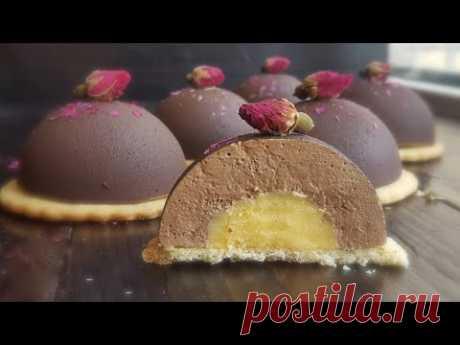 ШОКОЛАДНО-КОФЕЙНОЕ пирожное с АПЕЛЬСИНОВЫМ КУРДОМ😍 Спрей-велюр FOOD COLOURS