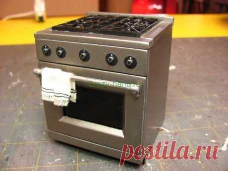 Современная печка для кукольного домика своими руками | Crazy-hand.ru