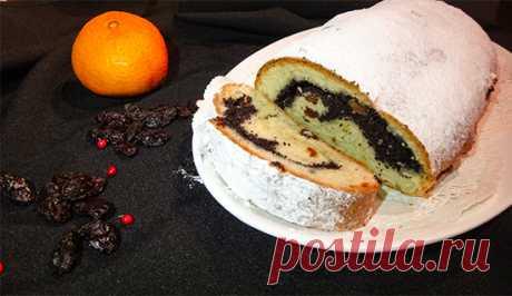 Творожный штоллен с маком (Poppy Seeds Quark Stollen). Тесто для этой выпечки готовится дрожжевое или с добавлением творога, орехов, цукатов и сухофруктов, натурального марципана или мака.