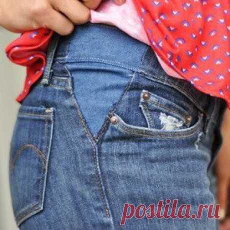 Идея как расставить джинсы / Переделка джинсов / ВТОРАЯ УЛИЦА
