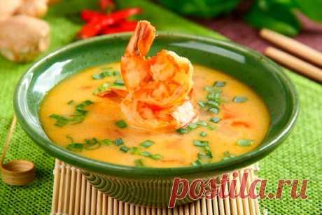 Тайский суп том ям с кокосовым молоком – пошаговый рецепт с фото.