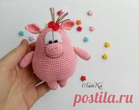 Вязаная свинка Рози амигуруми | Hi Amigurumi