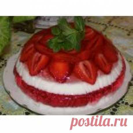 """Желейный торт """"Загляденье"""" Кулинарный рецепт"""