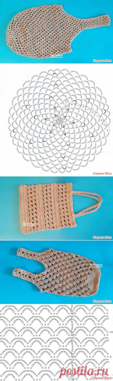 Три сумки из джута — две авоськи и изысканный вариант на каждый день - Вязание - Страна Мам