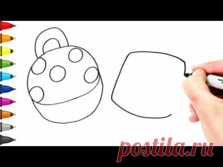 Coloring - How to draw bag