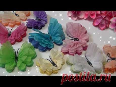 ( ペーパーポンポン ) 簡単 ! かわいい蝶々の作り方 【 DIY 】 (Paper Ponpon) of Easy! Butterfly
