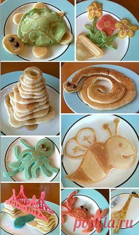 Блинчики для детских завтраков.