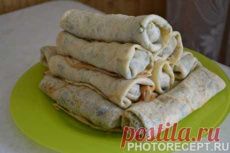 Блинчики с печенью и луком - рецепт с фото пошагово
