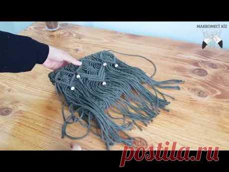 Самый простой способ изготовления сумок из макраме (подробное описание)