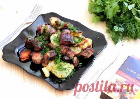 (11) Свинина в духовке,запеченная с картофелем - пошаговый рецепт с фото. Автор рецепта Елена Астрахань . - Cookpad