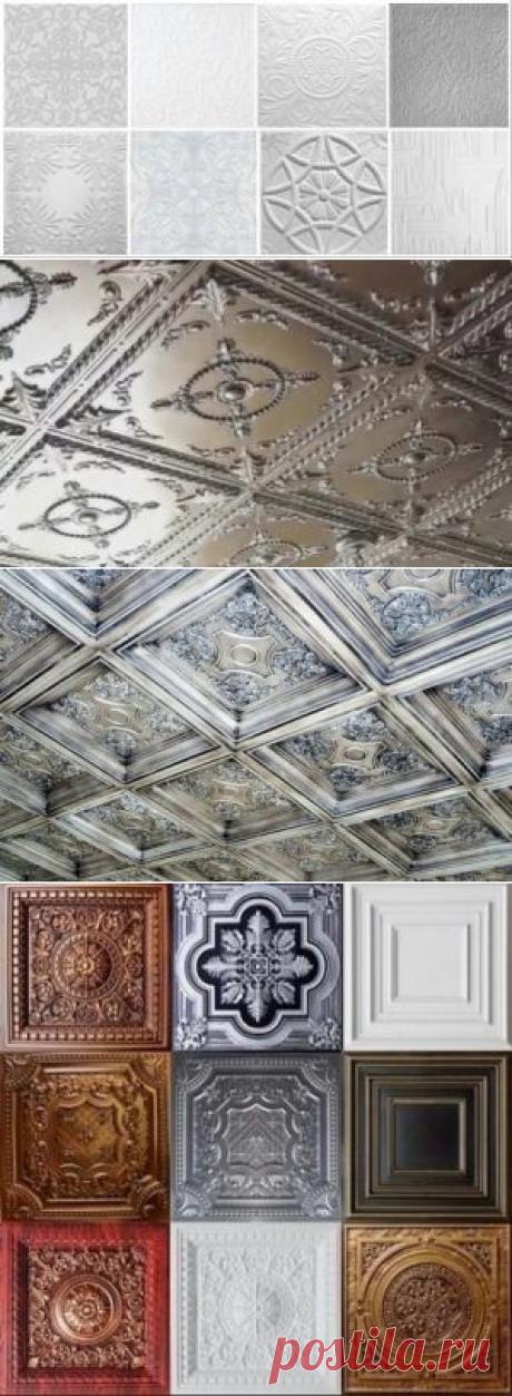 Плитки для потолка из пенопласта – виды, характеристики