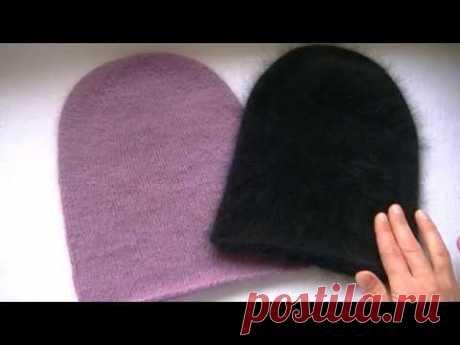 Вяжем шапку бини спицами. МК для начинающих