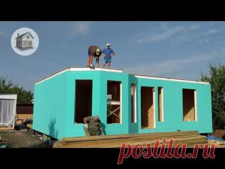 3 часть Строим дом из сип панелей 75м2, Перекрытие, Окраска ОСП
