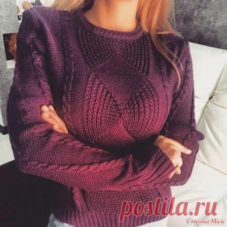 Модный пуловер. Спицы. Результат - Страна Мам