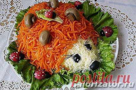 Как приготовить блюдо «Салат Ёжик»