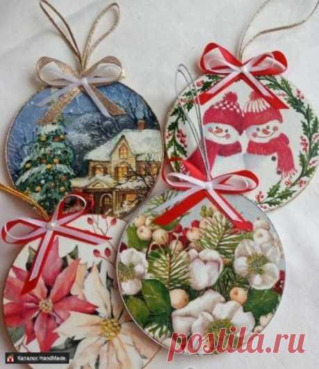 Медальоны для украшения дома к Новому году купить в Беларуси HandMade, цены в интернет магазинах