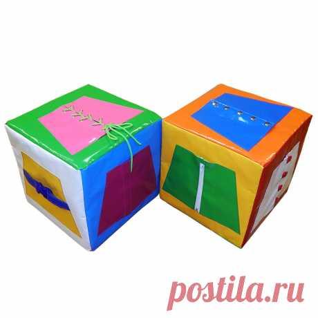 Простор для экспериментов - мягкий кубик «Застежки»
