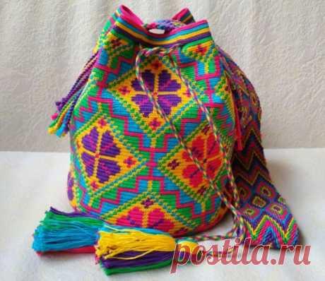 Колумбийская мочила: особенности вязки изделия   Своими руками
