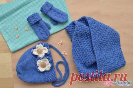"""Fashionable children's sets for the winter\"""" Knitting - the website about knitting by spokes and a hook"""