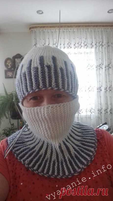 Простая красивая шапка платочной вязкой. | Vyazanie.info | Яндекс Дзен