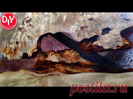 Стол из эпоксидной смолы Кап тополя