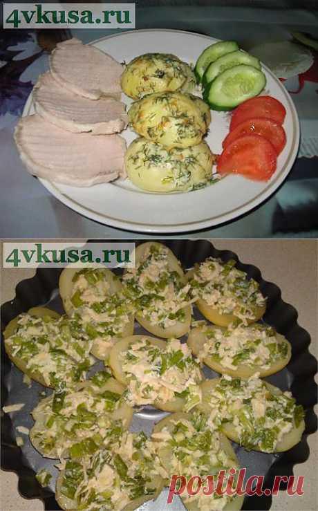 Картошка, запеченная в чесночном масле. Фоторецепт. | 4vkusa.ru