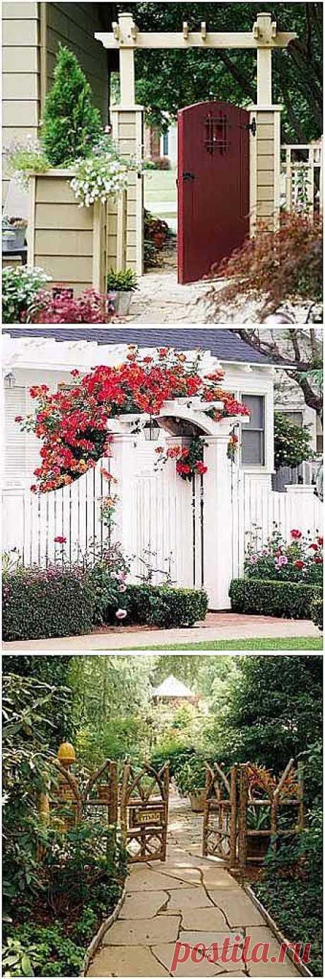 Идеи дизайна для дачи: красивые садовые калитки - Учимся Делать Все Сами