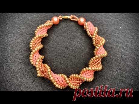 Flat Spiral Beading Bracelet 💎 Beading Tutorial
