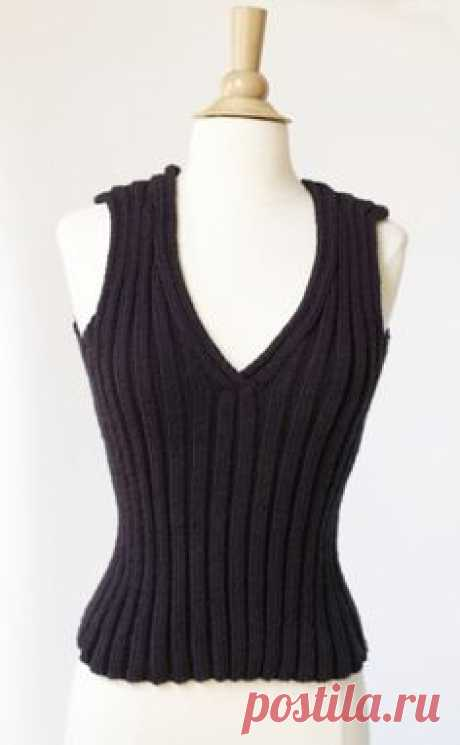 Laura's Loop: Tulip TankTop - The Purl Bee - Knitting Crochet Sewing Embroidery Crafts Patterns and Ideas! | Knitting