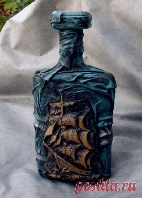 бутылка для рому – купить в интернет-магазине на Ярмарке Мастеров с доставкой - H2DQRU | Новоржев