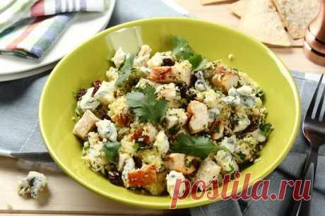 Как приготовить салат из кускуса с курицей и сыром – пошаговый рецепт с фото.