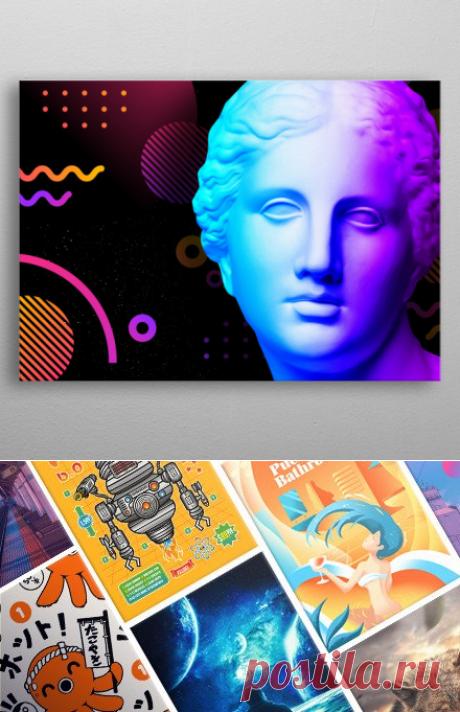 Ancient neon gods Venus Pop Art Poster Print | metal posters - Displate