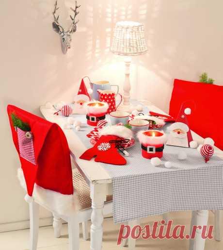 Способ красиво украсить праздничный новогодний стол
