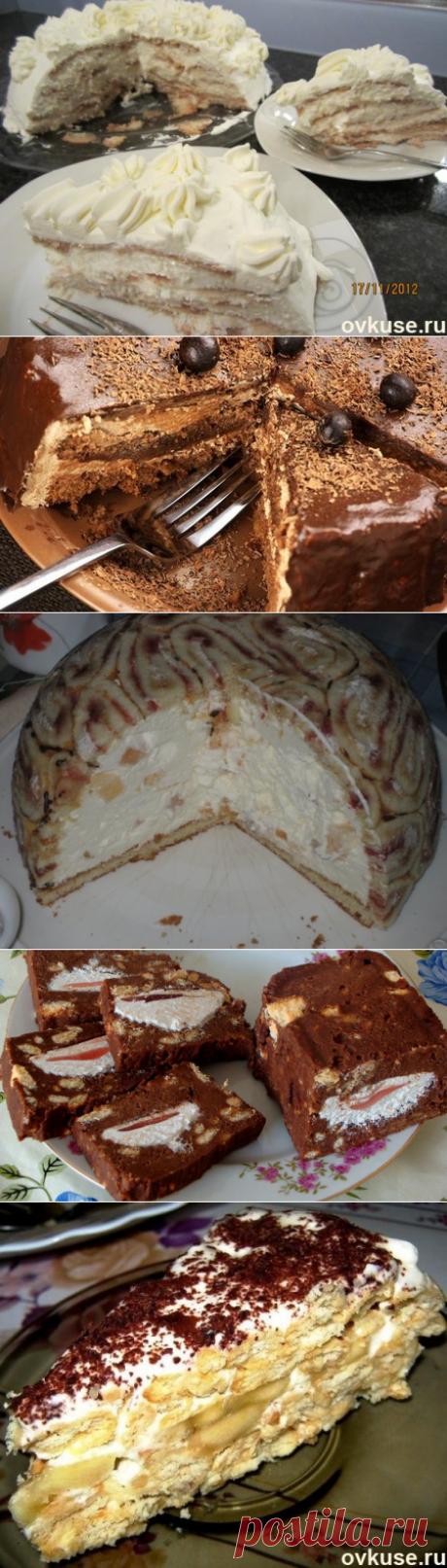 Торты без выпечки (подборка) - Простые рецепты Овкусе.ру