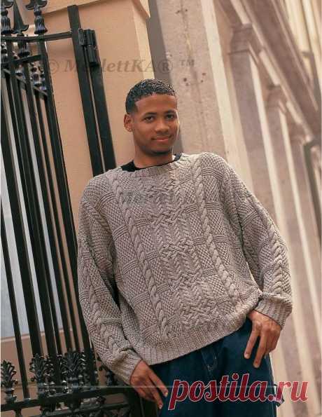 Пуловер спицами - Aran Plaid / Всё из мира рукоделия (изучаю и делюсь различными техниками и видами рукоделия)