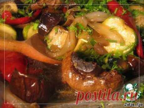 Запечeнные овощи во вкуснейшем маринаде - кулинарный рецепт