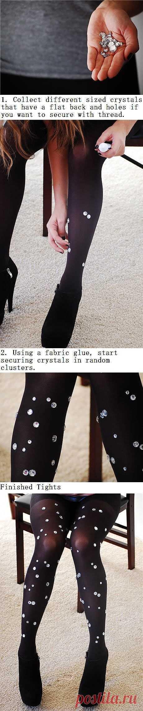 Декор колгот / Носки, колготки, леггинсы / Модный сайт о стильной переделке одежды и интерьера