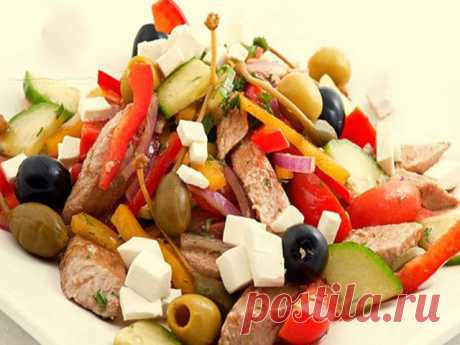Греческий салат с тунцом - ПАЛЬЧИКИ ОБЛИЖЕШЬ. Вкуснотища необыкновенная!