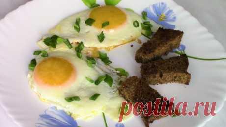 Как приготовить вкусную яичницу глазунью. Глазунья на сковороде.