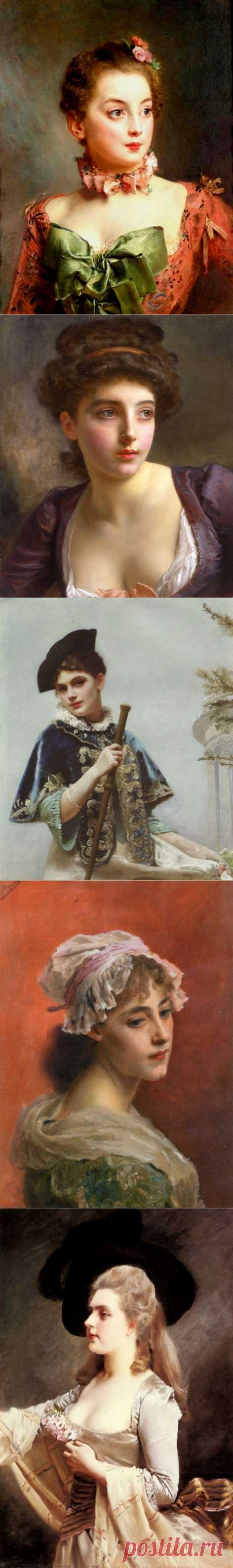 Пленительность женского образа...Gustave Jean Jacquet.