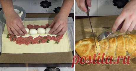 Потрясающий простой мясной пирог