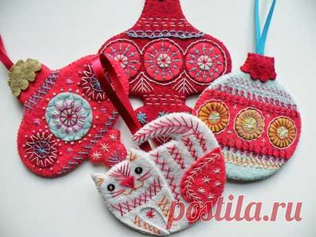textile christmas decorations