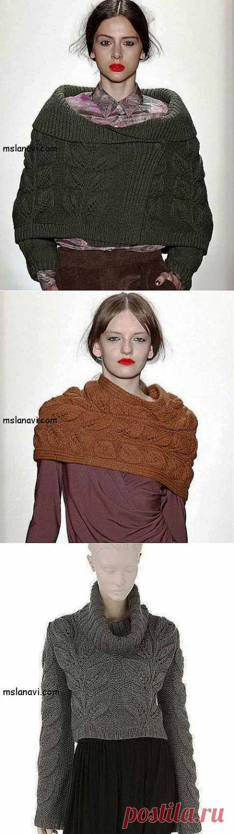 Женские модели с листьями от Costello Tagliapietra и не только.