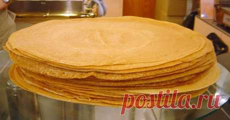 Superthin pancakes with cunning! The recipe which about ten years use already. Even the first does not leave a lump.