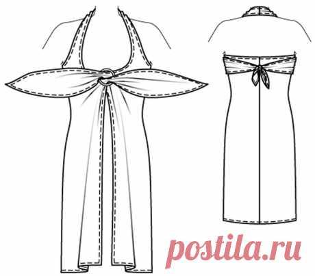 Пляжное платье без выкройки за полчаса — Мастер-классы на BurdaStyle.ru
