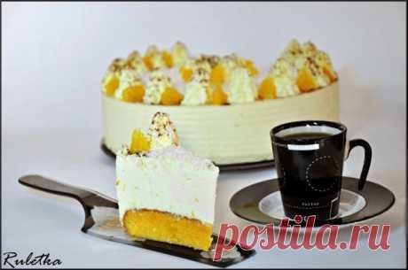 Торт с воздушным кремом Апельсиновые облака. пошаговый рецепт с фотографиями